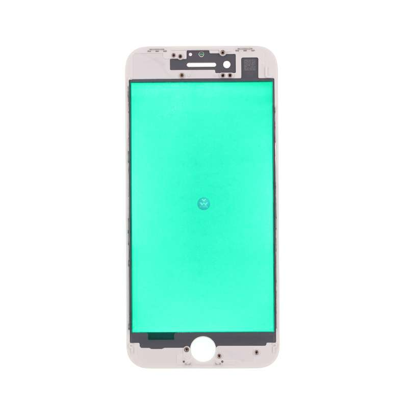 Outer Glass with Frame Bezel For iPhone 8 LCD